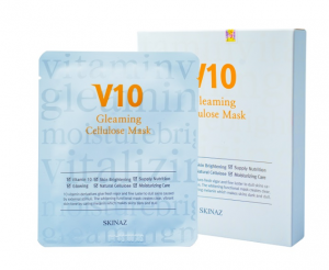 MẶT NẠ SKINAZ V10 Gleaming Cellulose Mask