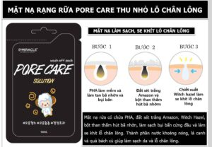 MẶT NẠ RẠNG SỮA S+MIRACLE PORE CARE – 10ml