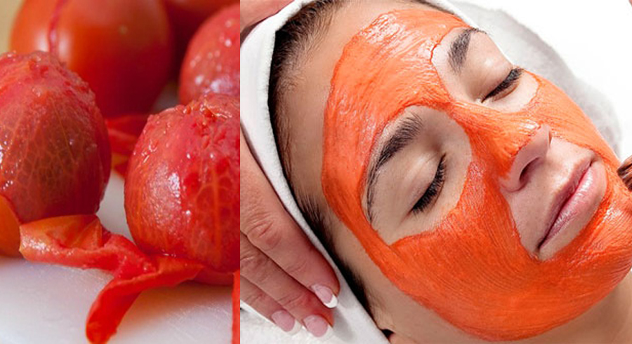 cà chua dưỡng da mặt