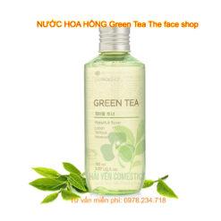nước hoa hồng green tea the face shop