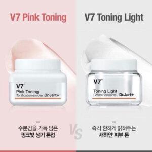 Kem pink toning và toning light khác nhau không
