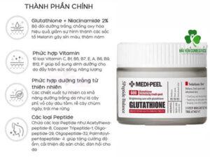 Thành phần Kem Medi Peel Glutathione