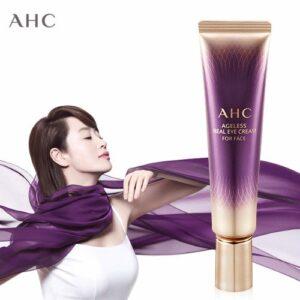Kem trị thâm AHC Ageless Real Eye Cream For Face ( màu tím )